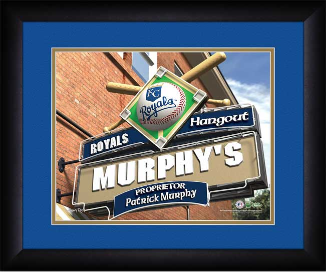 MLB - Kansas City Royals - Personalized Hangout Sign - Framed Picture