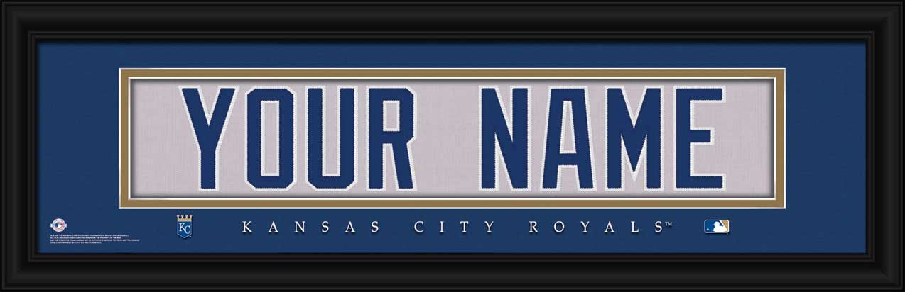 MLB - Kansas City Royals - Personalized Jersey Nameplate - Framed Picture