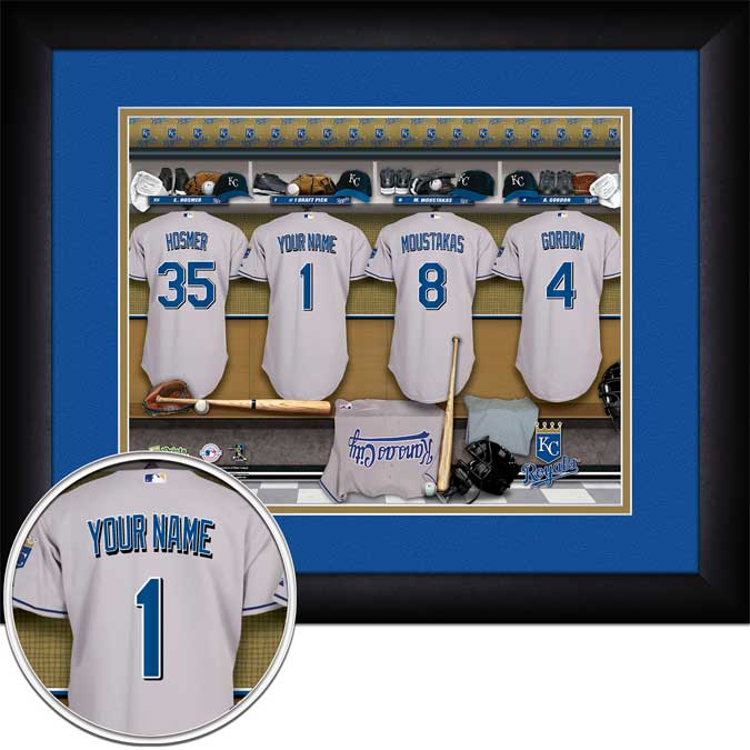 MLB - Kansas City Royals - Personalized Locker Room - Framed Picture