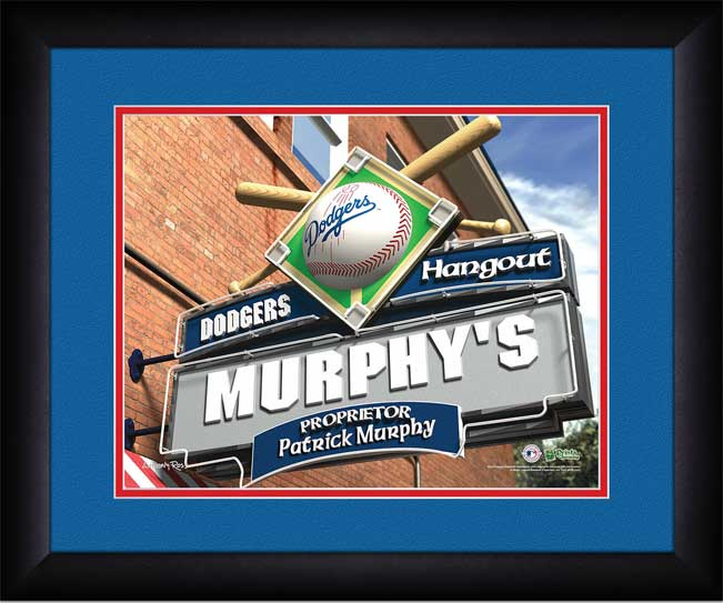 MLB - Los Angeles Dodgers - Personalized Hangout Sign - Framed Picture