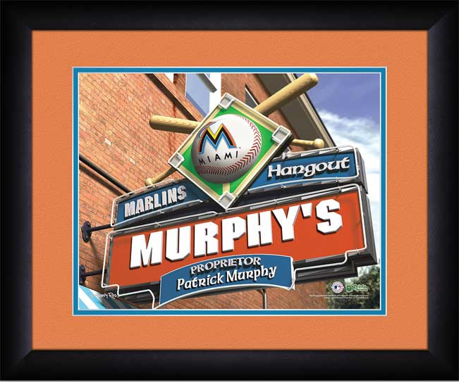 MLB - Miami Marlins - Personalized Hangout Sign - Framed Picture