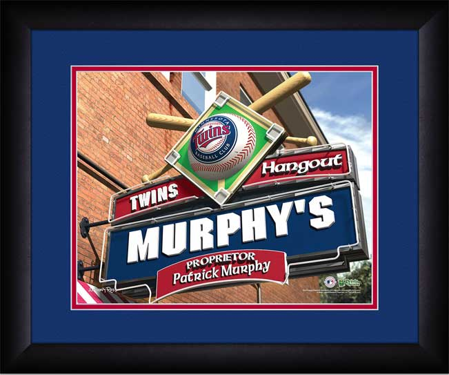 MLB - Minnesota Twins - Personalized Hangout Sign - Framed Picture