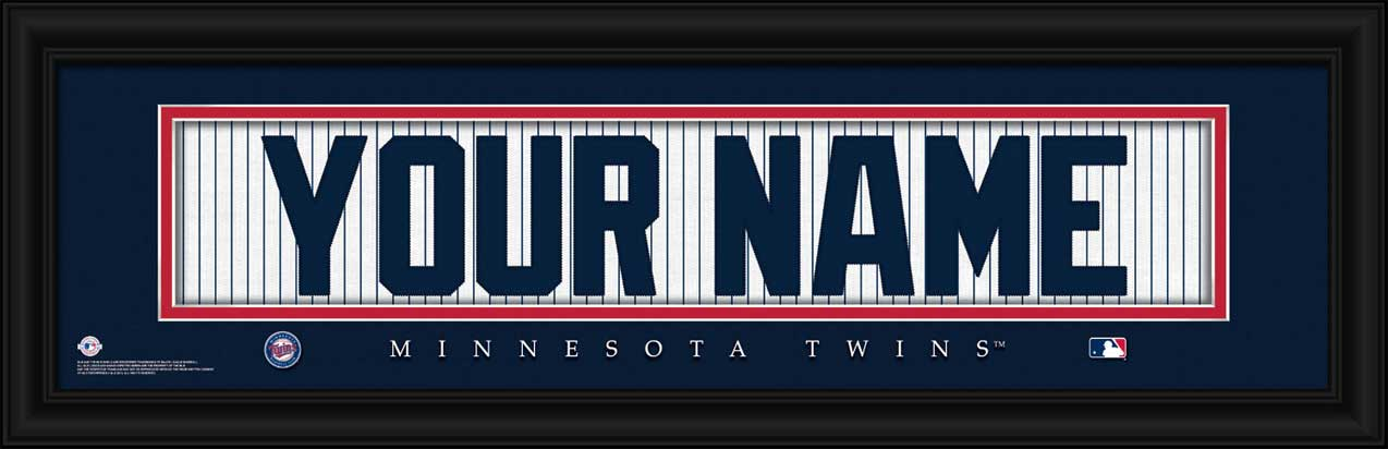 MLB - Minnesota Twins - Personalized Jersey Nameplate - Framed Picture