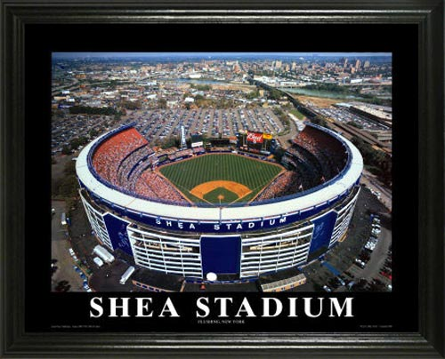 MLB - New York Mets - Old Shea Stadium Aerial - Lg - Framed Picture