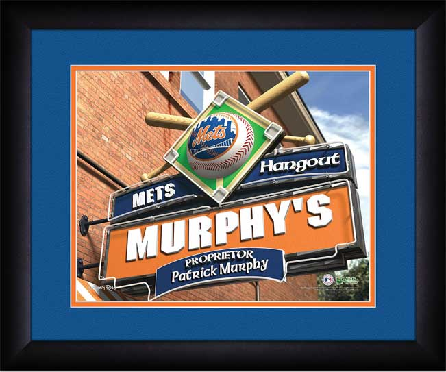 MLB - New York Mets - Personalized Hangout Sign - Framed Picture