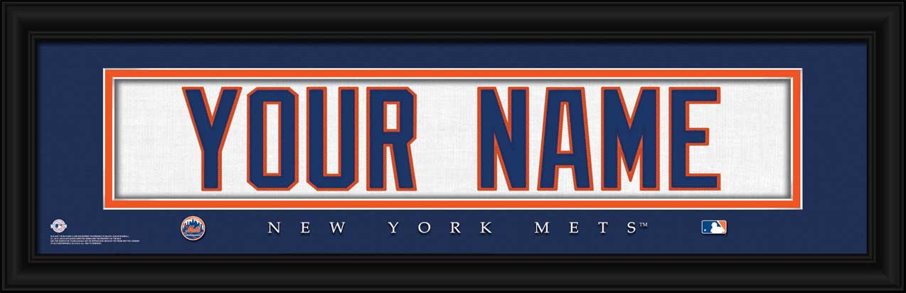 MLB - New York Mets - Personalized Jersey Nameplate - Framed Picture