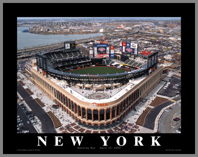 MLB - New York Mets - Citi Field aka New Shea Stadium - Sm - Plaque Mounted & Laminated Print
