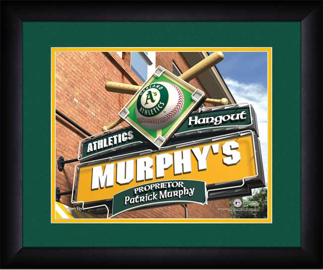 MLB - Oakland Athletics - Personalized Hangout Sign - Framed Picture