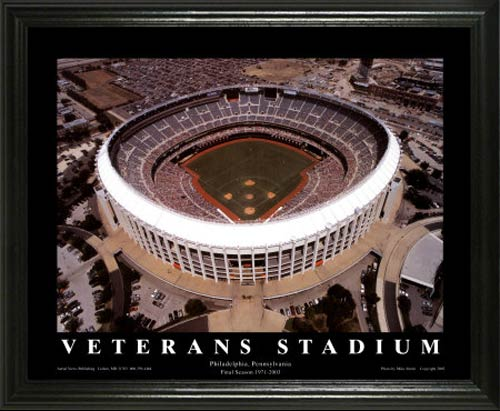 MLB - Philadelphia Phillies - Veterans Stadium Aerial - Lg - Framed Picture