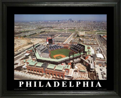 MLB - Philadelphia Phillies - Citizens Bank Ballpark Aerial - Lg - Framed Picture