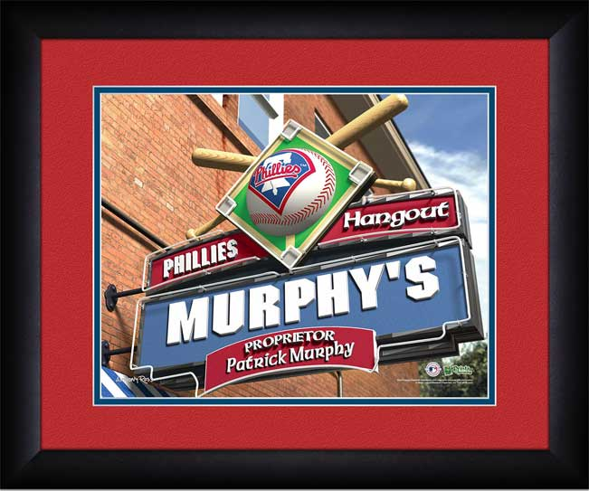 MLB - Philadelphia Phillies - Personalized Hangout Sign - Framed Picture