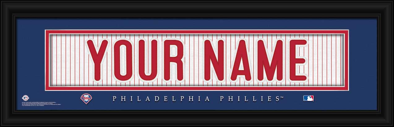 MLB - Philadelphia Phillies - Personalized Jersey Nameplate - Framed Picture