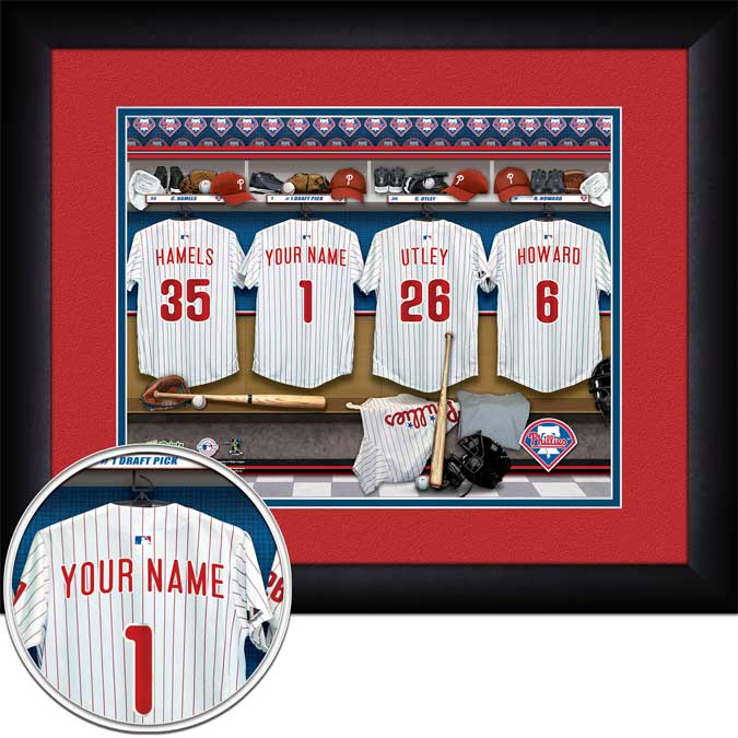MLB - Philadelphia Phillies - Personalized Locker Room - Framed Picture