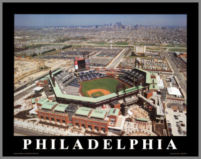 MLB - Philadelphia Phillies - Citizens Bank Ballpark Aerial - Lg - Plaque Mounted & Laminated Print