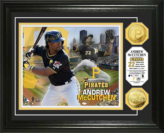 MLB - Pittsburgh Pirates - Andrew McCutchen - Gold Coins - Framed Picture