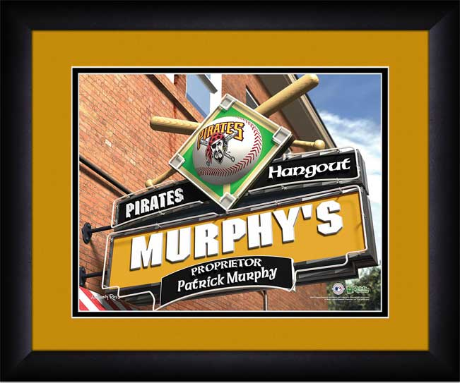 MLB - Pittsburgh Pirates - Personalized Hangout Sign - Framed Picture