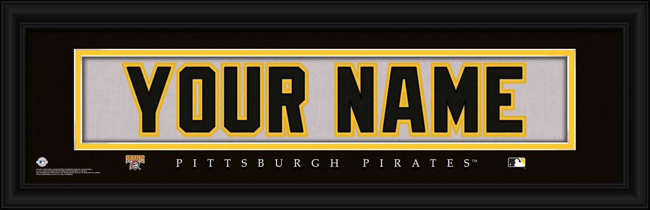 MLB - Pittsburgh Pirates - Personalized Jersey Nameplate - Framed Picture