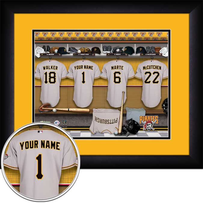 MLB - Pittsburgh Pirates - Personalized Locker Room - Framed Picture