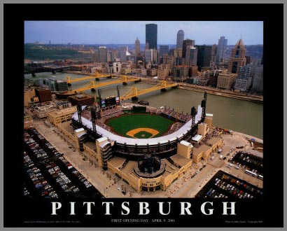 MLB - Pittsburgh Pirates - PNC Park Aerial - Sm - Plaque Mounted & Laminated Print