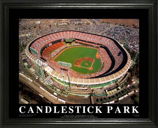 MLB - San Francisco Giants - Candlestick Park Aerial - Lg - Framed Picture
