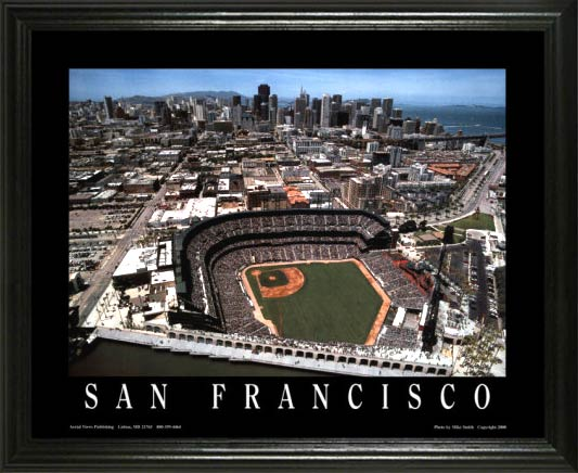 MLB - San Francisco Giants - ATT Park Aerial - Lg - Framed Picture