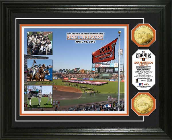 MLB - San Francisco Giants - Championship Ring Ceremony - Framed Picture