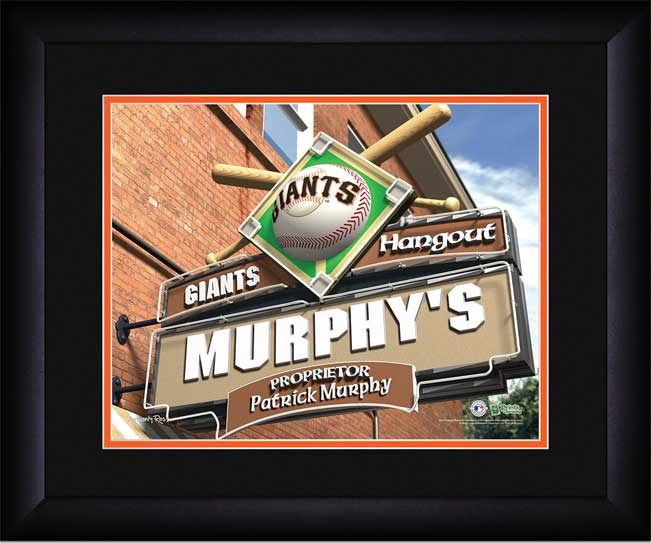 MLB - San Francisco Giants - Personalized Hangout Sign - Framed Picture