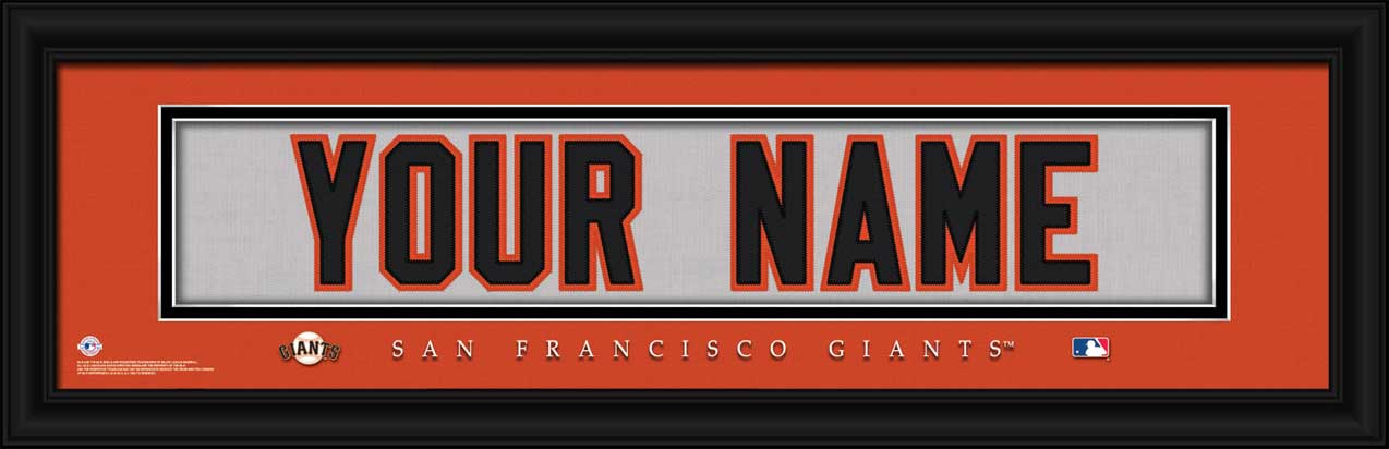 MLB - San Francisco Giants - Personalized Jersey Nameplate - Framed Picture