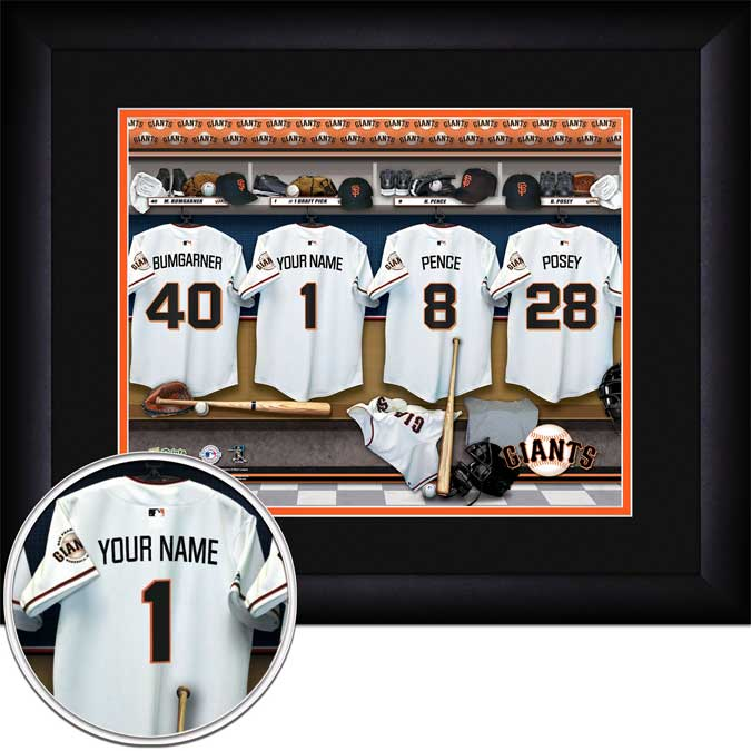 MLB - San Francisco Giants - Personalized Locker Room - Framed Picture