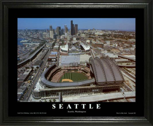 MLB - Seattle Mariners - Safeco Field Aerial - Day - Lg - Framed Picture