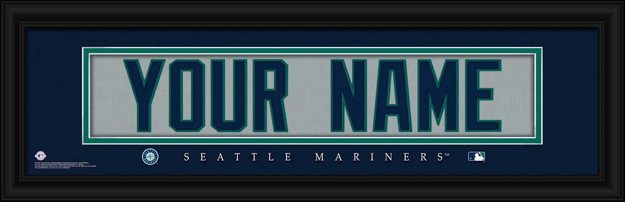 MLB - Seattle Mariners - Personalized Jersey Nameplate - Framed Picture