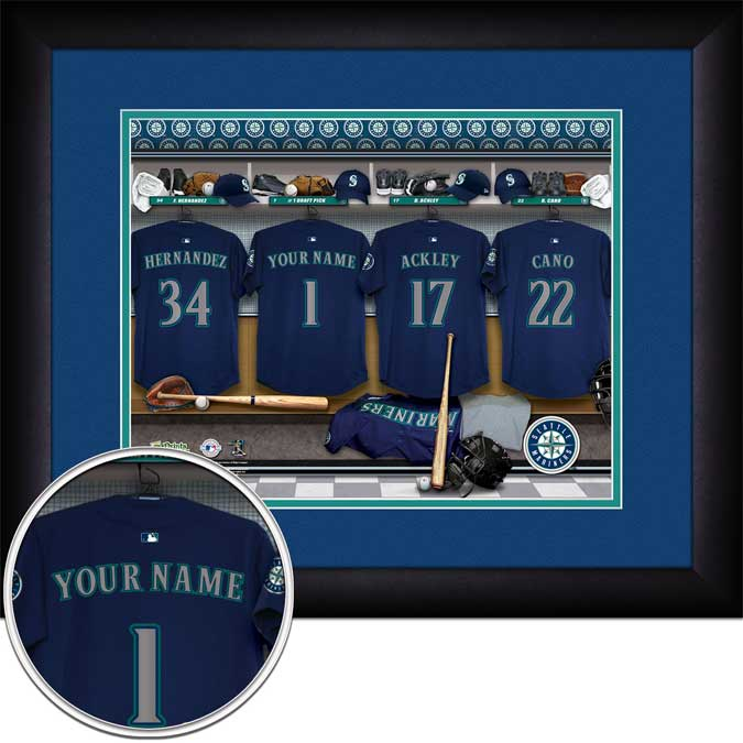 MLB - Seattle Mariners - Personalized Locker Room - Framed Picture