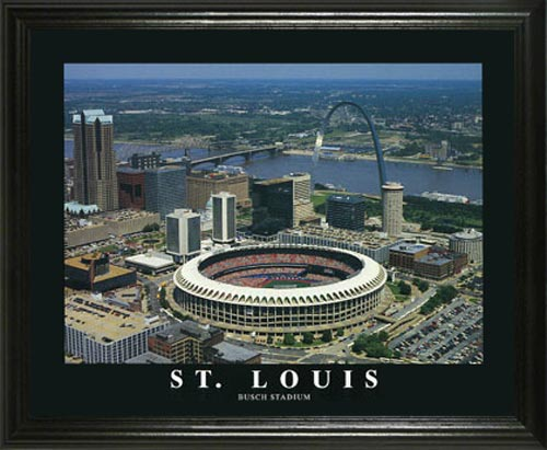 MLB - St. Louis Cardinals - Busch Memorial Stadium Aerial - Lg - Framed Picture