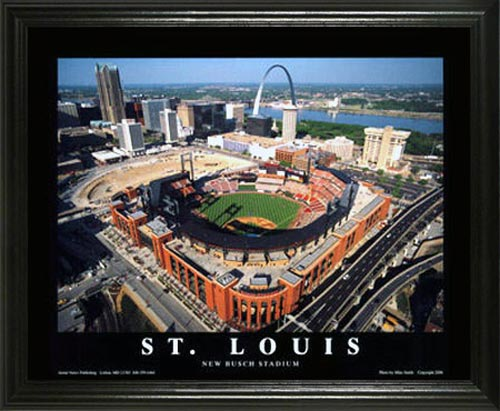 MLB - St. Louis Cardinals - New Busch Stadium Aerial - Lg - Framed Picture