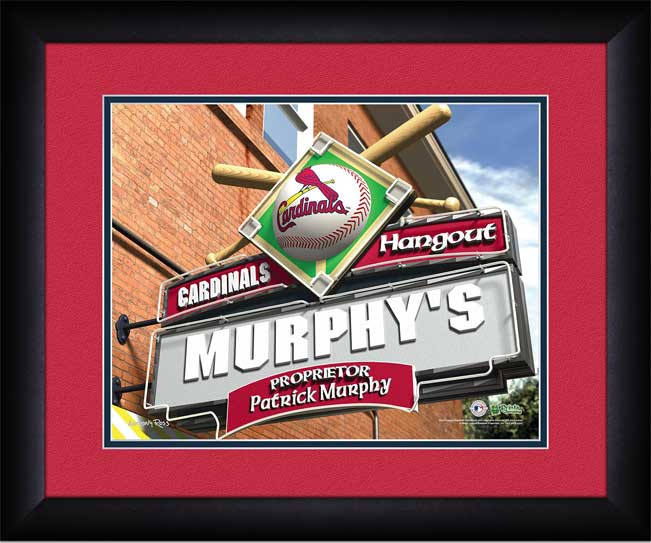 MLB - St. Louis Cardinals - Personalized Hangout Sign - Framed Picture