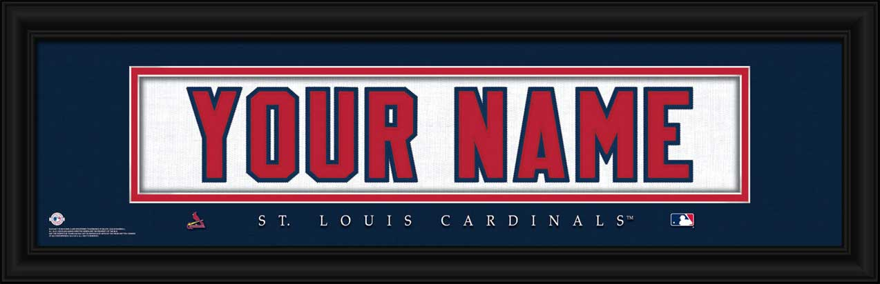 MLB - St. Louis Cardinals - Personalized Jersey Nameplate - Framed Picture