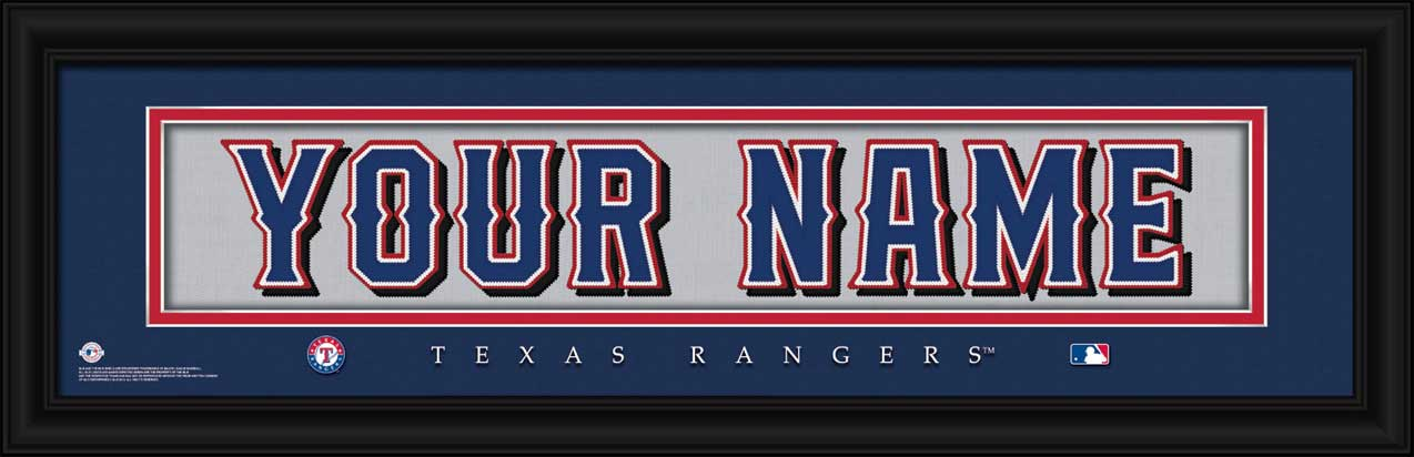 MLB - Texas Rangers - Personalized Jersey Nameplate - Framed Picture