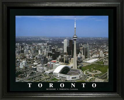 MLB - Toronto Blue Jays - Rogers Centre aka SkyDome Aerial - Lg - Framed Picture