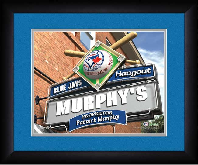 MLB - Toronto Blue Jays - Personalized Hangout Sign - Framed Picture