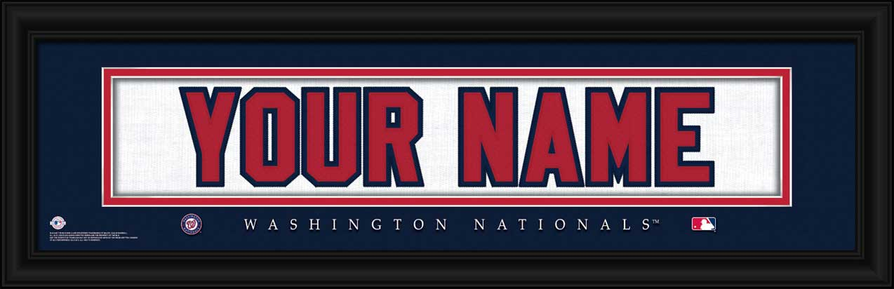 MLB - Washington Nationals - Personalized Jersey Nameplate - Framed Picture