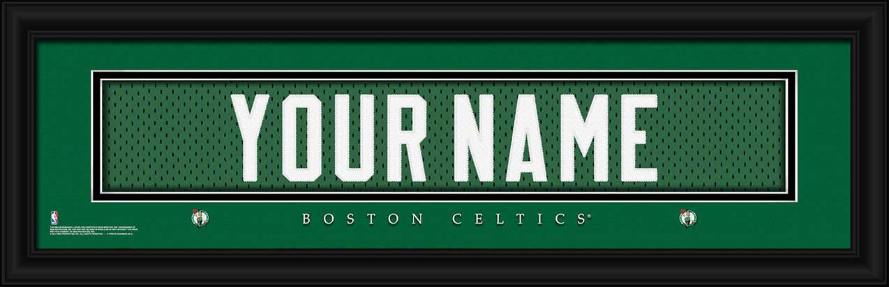 NBA - Boston Celtics - Personalized Jersey Nameplate - Framed Picture