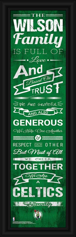 NBA - Boston Celtics - Personalized Family Cheer - Framed Picture