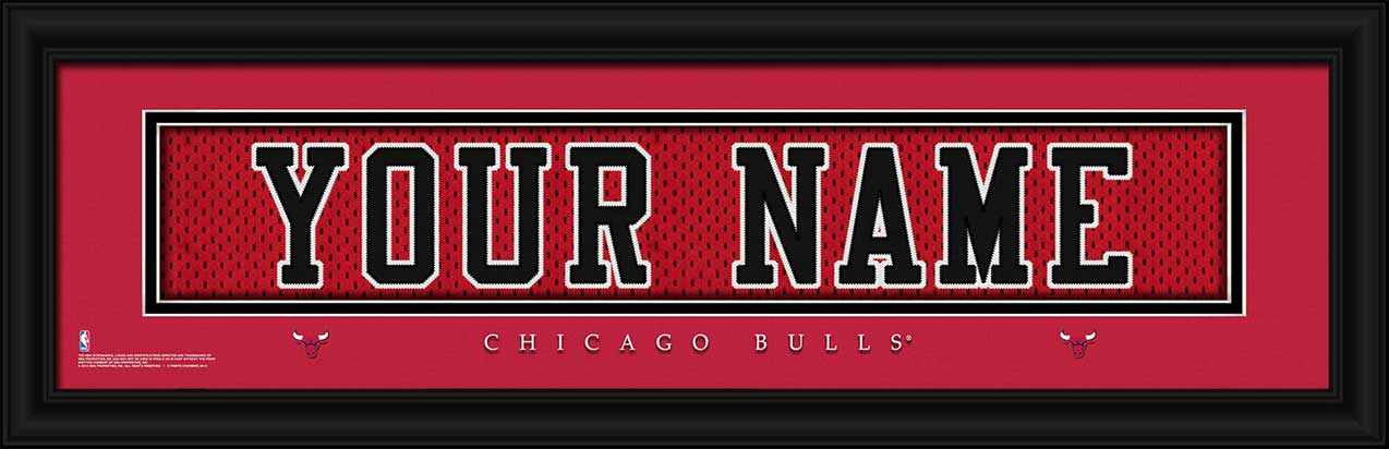NBA - Chicago Bulls - Personalized Jersey Nameplate - Framed Picture