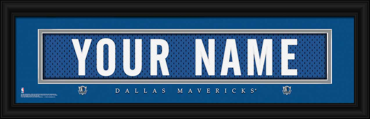 NBA - Dallas Mavericks - Personalized Jersey Nameplate - Framed Picture