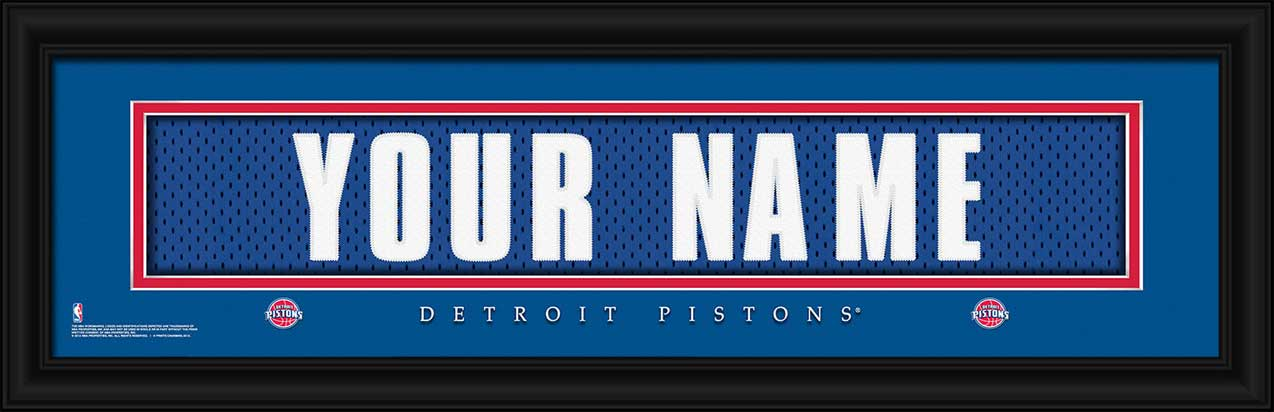 NBA - Detroit Pistons - Personalized Jersey Nameplate - Framed Picture