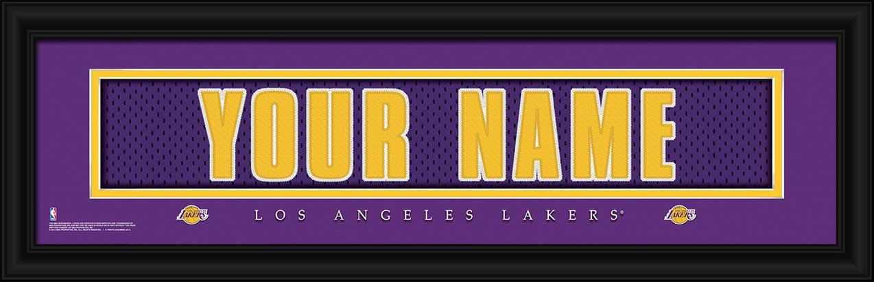 NBA - Los Angeles Lakers - Personalized Jersey Nameplate - Framed Picture