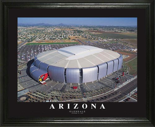 NFL - Arizona Cardinals - University of Phoenix Stadium Aerial - Lg - Framed Picture