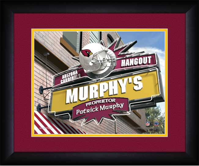 NFL - Arizona Cardinals - Personalized Hangout Sign - Framed Picture