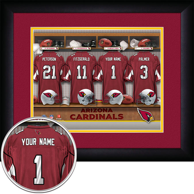 NFL - Arizona Cardinals - Personalized Locker Room - Framed Picture