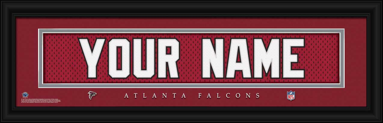 NFL - Atlanta Falcons - Personalized Jersey Nameplate - Framed Picture